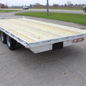 Open Deck Over Open 20' Trailer