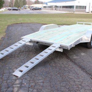 wood deck car hauler