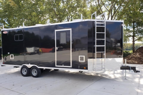 8′ X 25′ STEEL HIGH OCTANE DECK-OVER (WATER TESTING TRAILER)