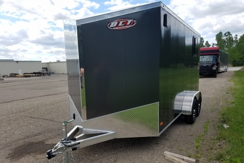 Motorcycle 14′ Fuel Slanted Wedge Trailer