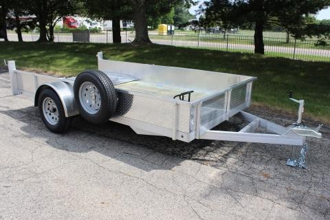 Open 12′ Aluminum/Wood Deck Utility Trailer