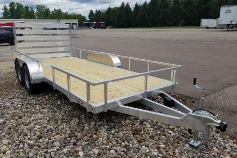 Open 16′ Tandem Aluminum/Wood Deck Utility Trailer
