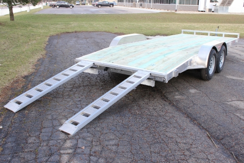 Open 18′ Wood Deck Car Hauler